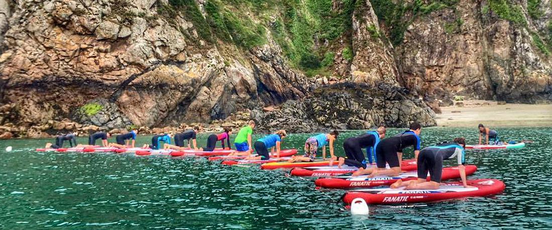 Outdoor Guernsey SUP Yoga